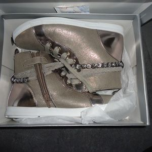 STUART WEITZMAN High Top Pewter Sneakers Size 5